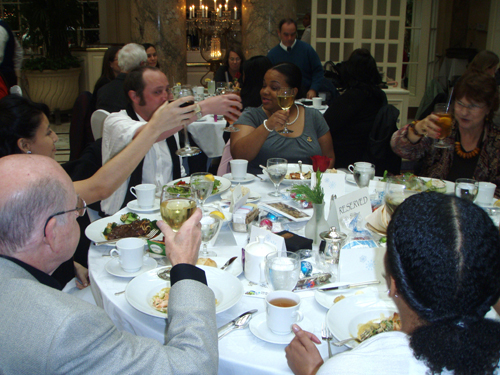 UWA members making a toast
