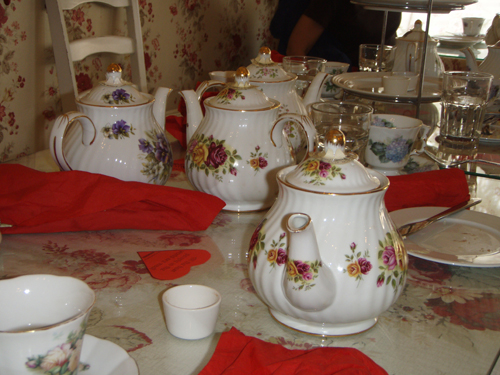 Ornate tea pots